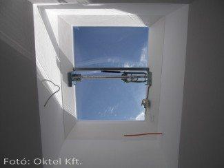 Füstelvezető ablak beüzemelés előtt
