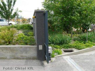 Biztonsági elemek: infrasorompó és jelzőlámpa