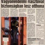 Biztonságos otthon riasztóval (Blikk 2006.06.13.)