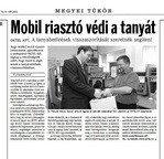 Mobil riasztó védi a tanyákat (Tolnai Népújság 2010.03.03.)