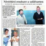 Nővérhívó rendszer a szülészeten (Szekszárdi Vasárnap 2010.05.23.)