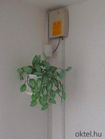 A növényzet zavarhatja az infra működését.