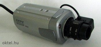 Lekerekített formájú box kamera, objektívvel
