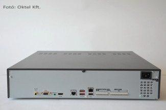 Samsung SRN-1670D NVR hátoldali csatlakozói (Fotó: Oktel Kft.)