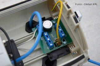 Fűtésszabályozó elektronika a kameraházban