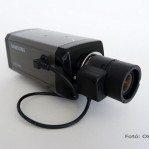 Box kamera objektívvel