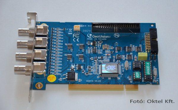 GeoVision GV-600 4 csatornás rögzítő digitalizáló kártyája
