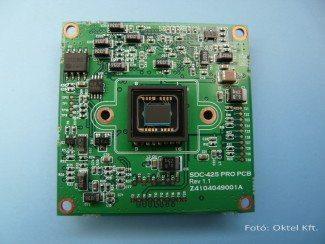 CCD érzékelő egy kamera nyomtatott áramköri lapján