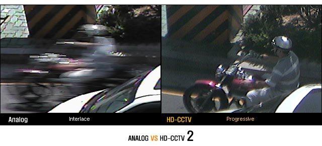Analóg és HD CCTV kép minőségkülönbsége 2. (Forrás: www.thehdcctv.com)