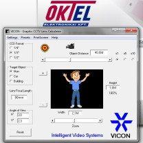 CCTV optika kalkulátor