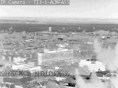 PELCO hőkamera felvétele, éjjel-nappal egyforma képet ad (Fotó: Oktel Kft.)