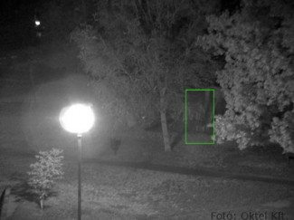 day&night IP kameránál alig látszik a lombok között a személy