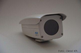PELCO IP hőkamera 100 mm-es objektívvel (Fotó: Oktel Kft.)