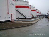 Lángérzékelőkkel védett üzemanyag tartályok