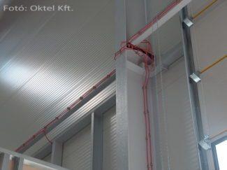 Felszálló kábel telepítése tartóoszlopra