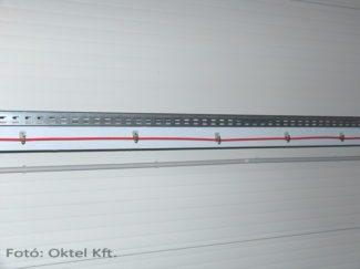 Egy megfelelő módon rögzített tűzjelző kábel